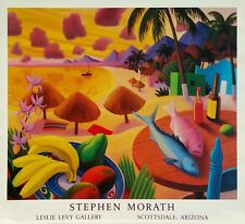 "Stephen Morath, ""Banana Beach"", poster, 23.5""h x 28.25""w image, pub in 1988"