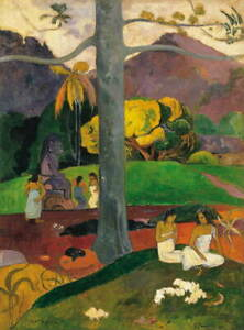 Paul Gauguin Mata Mua In Olden Times Giclee Art Paper Print Poster Reproduction