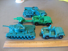 Vintage Auburn Army Tank Jeeps Cannon Halftrack Toys USA In Great Shape
