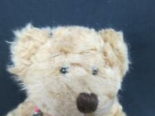 RUSS BERRIE FULLY JOINTED TEDDY BEAR PLAID BOW BROWNING SHAGGY BROWN PLUSH