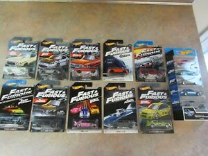 HOT WHEELS FAST & FURIOUS LOT OF 10 DIFFERENT SINGLES + 5-PACK SET
