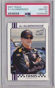 2007 Traks #32 AJ Allmendinger Rookie PSA 10 Gem Mint Nascar racing