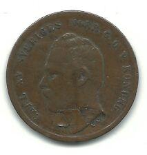 LAMINATION MINTING ERROR-VERY NICE HIGHER GRADE 1864 SWEDEN 1 ORE COIN - JAN054