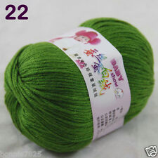 Sale 1 Skein x50g Baby Cashmere Silk Wool Children hand knitting Crochet Yarn 22
