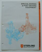 STERLING Boring & Post Driving 1986 dealer brochure catalog - English - USA
