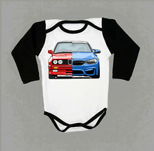 BMW evolution baby body WHITE/BLACK infant kids newborn clothing toddler BMW