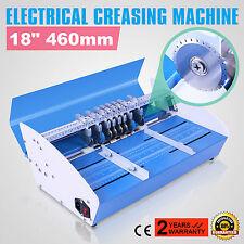 "Electric 3-in-1 Paper Creasing Machine Scorer / Perforator 18"" (460mm) New"