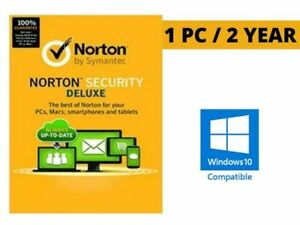 Registered Norton Security Deluxe 1 PC 2 Year License Code Key Win 10 ready