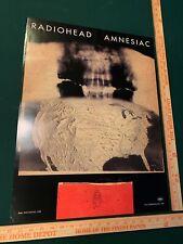 Radiohead Amnesiac U.S. Tour Concert Poster 2003 Rare Thom Yorke Bought at Show!