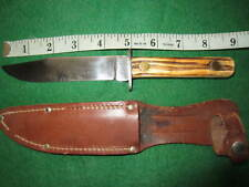 Vintage Utica Kutmaster H266 fixed blade knife with sheath