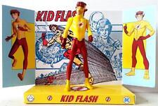 Teen Titan KID FLASH Superhero DC Comic Action Figure on Custom Design Display 1