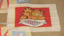 Vintage Garfield 1978 two extended flat sheets and one pillowcase (twin size)