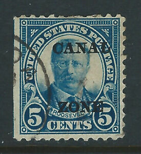 Bigjake: Canal Zone, #74, 5 Cent Roosevelt with overprint