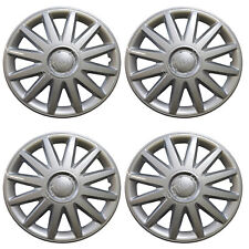 898 Universal Wheel Cover ABS Wheel Skins Set Hub Caps Silver 16'' -Set of 4