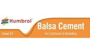 Humbrol Balsa Cement 24ml Tube - Soft Wood/ Balsa/ Cork Glue