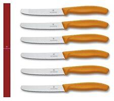 Victorinox: paquete 6 cuchillos mesa naranja alambre hilo con dientes 6.7826