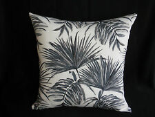 Outdoor Grey Off White Charcoal Tropical Palm Leaf Cushion Cover 45cm AU MADE