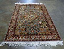 Vintage Hand Knotted Turkish Gheisari Kaysari Silk Rug 6'11 x 4'10
