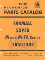 FARMALL Super M, MV, MD, MDV, M-TA Parts Catalog Manual