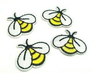 1.5 Inch Glue-On /& Iron-On Patch w Bumblebee Honey Bee Buzzing Flying Insect Bug Emblem Style 1 of Sew-On Custom Made Yellow, Black