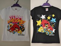 BOYS GIRLS ANGRY BIRDS T-SHIRT TSHIRT TEE TOP AGE  5 6 7 8 9 10 11 FREE P&P