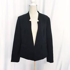 Ellen Tracy womens black long sleeve casual Friday blazer size 14