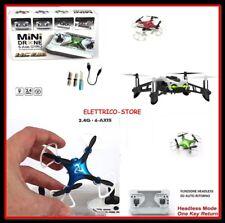 DRONE QUADRICOTTERO MINI PORTATILE RADIOCOMANDATO RICARICABILE USB LED 6-AXIS