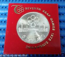 1973 Singapore Seventh SEAP Games $5 Commemorative 25.05gm .500 Fine Silver Coin
