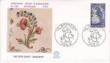 Enveloppe 1er jour FDC n°1156- 1980 - Métiers d'Art La Broderie