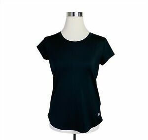 Under Armour HeatGear Half Zip Shirt SM tee short sleeve black mesh