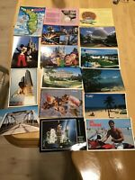Lot of 16 Florida Postcards - Kennedy Space Center, Clearwater Beach, Key West