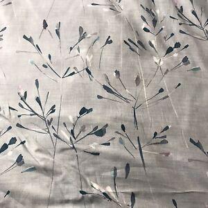 JOHN LEWIS NERINE 2.5m Curtain Cushion Duck Egg Cotton/Linen Floral Print Fabric