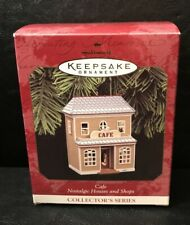 Hallmark Ornament Cafe 1997 Mib 14th Nostalgic Houses & Shops Christmas