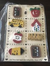 Vintage Hand Painted Ceramic Teacher Buttons