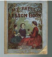 My Pretty Lesson Book 1872 Lithos Rare Antique Softcover!  $
