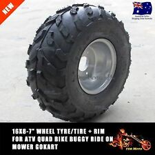 "16X8-7"" inch 3 Stud Wheel Rim + Tyre Tire 110cc 125cc Quad Dirt Bike ATV Buggy"