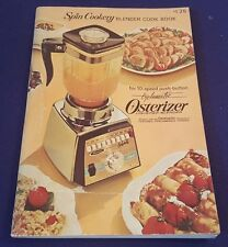 1968 SPIN COOKERY Blender Cook Book Cookbook Booklet by OSTERIZER