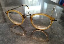 Oliver Peoples L.A. Vtg Eyeglasses RX Round yellowish Tortoise very strong