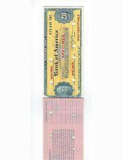BANK OF AMERICA  SPECIMEN TRAVELERS CHECKS BOOKLET OF 5 x 20$ SPECIMENS
