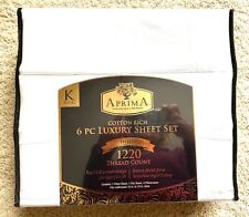 Aprima 6-pc. New Luxury King Size Sheet Set, Bright White, 1220 Thread Count