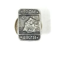 1928 100M Silver Sales Award Lapel Pin Prudential Insurance Rock of Gibraltar