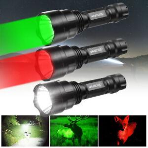 Flashlight Red/Green/White Light T6/Q5 LED Torch Lamp Night Vision Hunting