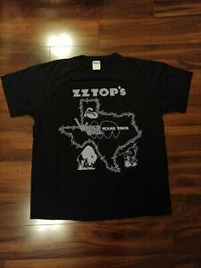 ZZ Top Worldwide Texas Tour Fan Club Black T-Shirt Gildan Men's
