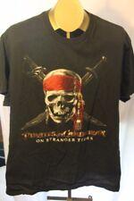 Disney Pirate's of the Caribbean on Stranger Tides T-Shirt Skull Sword X-Large