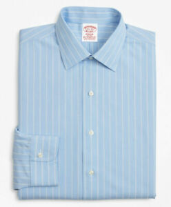 Brook Brothers Stretch Madison Classic-Fit Dress Shirt Non-Iron Pinstripe 16H32