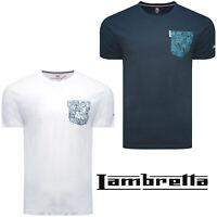 Lambretta T-Shirts Print Short Sleeve Paisley Pocket Mens Retro Cotton UK S-4XL