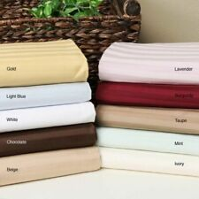 Cozy Bedding Sheet Set 4 PCs OR 6 PCs Egyptian Cotton All US Size Striped Colors