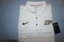 PURDUE BOILERMAKERS POLO SHIRT SML 857130-100 DRI-FIT ON FIELD APPAREL NIKE SEWN
