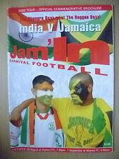 2002 Tour-oficial conmemorativo Folleto-India V Jamaica, 29 de agosto