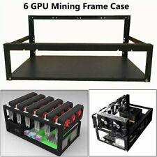 More details for 6+8 gpu steel open air miner frame mining rig case crypto coin currency bitcoin